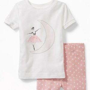 Ballerina-Graphic Sleep Set for Toddler & Baby